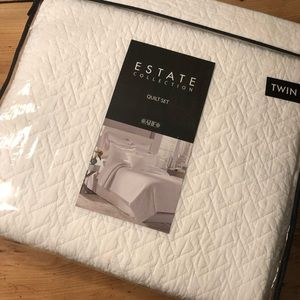 2 Brand New Twin White Quilts and Shams